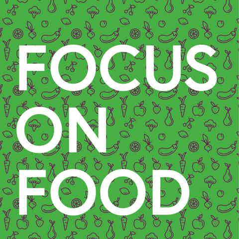 Workplace wellness poster with text: Focus on Food