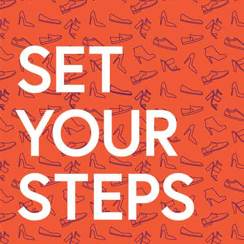 Workplace wellness poster with text: Set your Steps