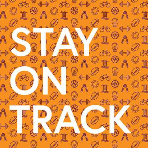 Workplace wellness poster with text: Stay on Track